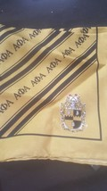 Alpha Phi Alpha Fraternity Silk Pocket Square Handkerchief 1906 Gold - $14.70