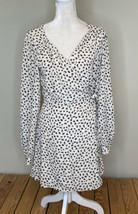 all in favor NWT Long Sleeve Cheetah Print wrap dress Size L beige Black - $23.76