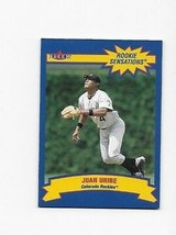 2002 FLEER ROOKIE SENSATIONS JUAN URIBE #17 OF 20 0886/1500 - $0.99