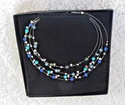 Avon President's Club Jewelry Necklace Beads Rhinestones with Original Box  - $23.36