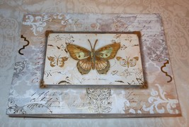 Punch Studio Decorative Gold Foil Butterflies Memory Gift Nesting Box 18... - $38.99