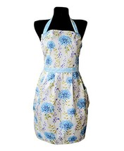 Provence 100% Cotton Apron with Two Pockets and Adjustable Ties, Adult a... - $25.86