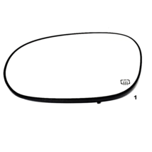 Fits 08-19 DG Challenger Left Driver Heated Mirror Glass w/Rear Holder  OEM - $28.66