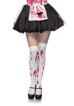Halloween White Bloody Zombie Thigh Highs Costume Accessories  - $8.59