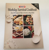 vintage kraft promo cookbook weekday survival cookbook easy quick recipes  - $16.78