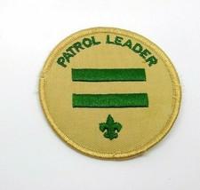 Vintage Patrol Leader Patch Tan Green BSA Boy Scouts of America Uniform Troop US - $3.47