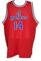 Robert Pack #14 Washington Retro Basketball Jersey Sewn Red Any Size image 1