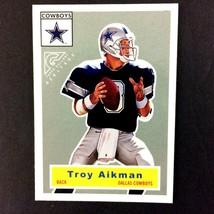 Troy Aikman 2000 Topps Gallery Heritage Insert Card #2 NFL HOF Dallas Co... - $3.91
