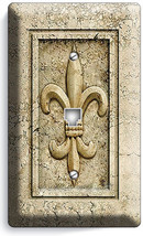 Royal Fleur De Lis Light Phone Jack Telephone Wall Plate Switch Cover Room Decor - $8.90