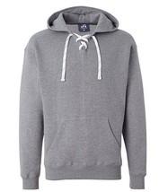 J. America Men's Sport Lace Hooded Sweatshirt, Oxford (Gray), Size M - £18.16 GBP
