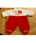 "First Steps Doll Clothing Outfit Red & White Clothes 9"" long by 5"" waist... - $9.89"