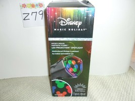 Disney Mickey Mouse Ears Light Show Swirling Multicolor LED Christmas Sp... - $29.99