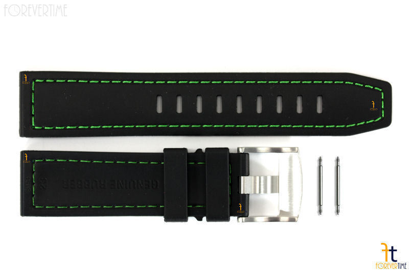 Luminox Coronado 3037 23mm Nero GOMMA Nitrilica Orologio Cinturino con / 2 Perni