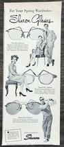 1947 Shuron Eyeglasses Print Ad Your Spring Wardrobe Everyday Sunny Spec... - $10.69
