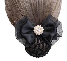 Black Series Hair Net Bowknot Hair Clips Hair Accessories 2 pieces, NO.003 - $323,33 MXN