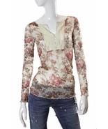 Denim Supply Ralph Lauren Lace Crochet Long Sleeve Sheer Top S NWT - $26.24