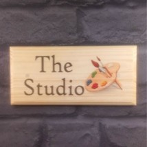 The Studio Sign Art Room Craft Shed Artist Gift Painting Painter Plaque ... - $12.00