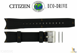 Citizen Eco-Drive Promaster BN0085-01 Black Rubber Watch Band Strap w/ P... - $94.95