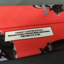Harley Davidson Motorcycles Ralph Marlin Neck Tie Harley Custom Softail 1994  image 5