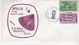 APOLLO 7 MANNED FLIGHT RECOVERY FORCE U.S.S. COCHRANE OCTOBER 22 1968 PA... - $1.98