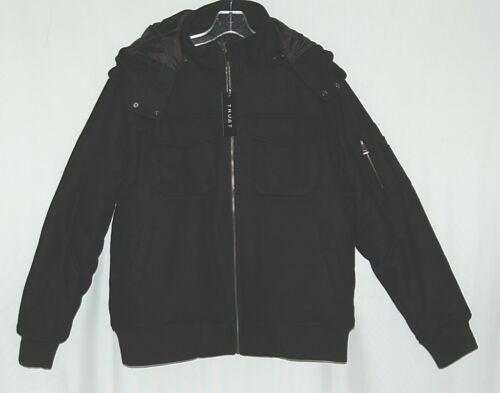 Trust Brand WB170J Wool Nylon Medium Black Coat Zippered Hooded