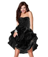 Jovani Women's Gorgeous Strapless Beaded Formal/Prom Dress 6 Black - $323.39