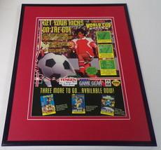 Tengen World Cup / Paperboy 2 1993 Sega 11x14 Framed ORIGINAL Advertisement - $34.64