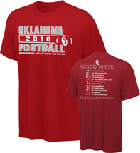 Oklahoma Sooners new 2010 Football Season Schedule t-shirt CMS large NCA... - $14.84