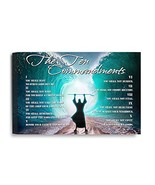 IPIC - THE TEN COMMANDMENTSEnglish. Giclee Canvas Print wall art for Hom... - $40.15