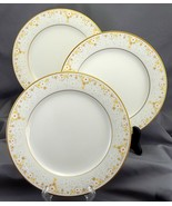 Noritake Fragrance Salad Plates Set of 3 Ivory Yellow White Daisies 8.25... - $21.78