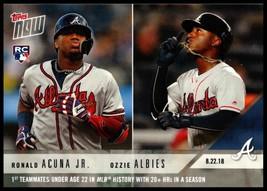 2018 Topps Now #627 Ronald Acuna Jr./Ozzie Albies NM-MT RC Atlanta Braves - $19.99