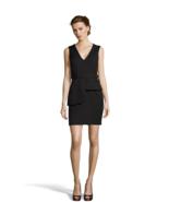 NWT  WOMEN HAYDEN  Black V-Neck Belted Sheath Dress size 0 $249 - $35.63