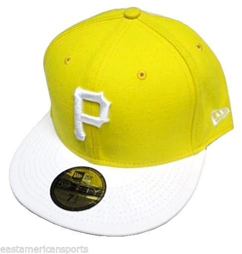 a25678af1cb S l1600. S l1600. Pittsburgh Pirates MLB New ERA Yellow White 59Fifty Hat  Cap Flat Fitted 7 1  ...