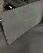 Omega Italy Men's Charcoal Dress Shirt Long Sleeve Regular Fit w/ Defect - M image 4