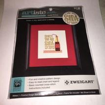 Zwiegart 1389352 NEW Counted Cross Stitch Kit Soda-licious Artiste Mini ... - $5.68