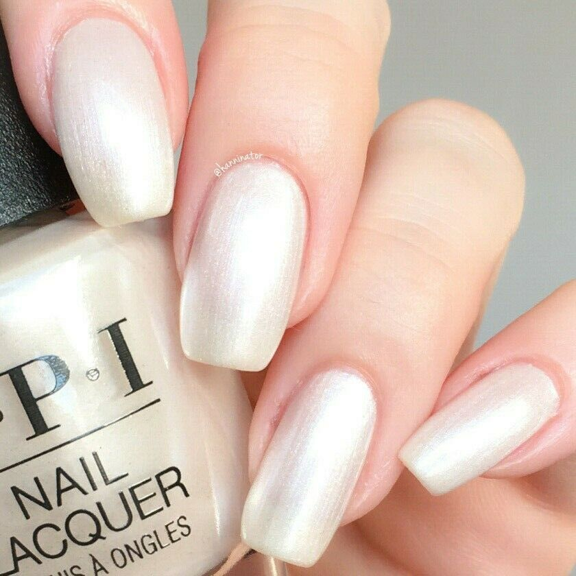 Primary image for OPI xoxo SNOW GLAD I MET YOU Soft White Pearl French Nail Polish Lacquer J01 NEW