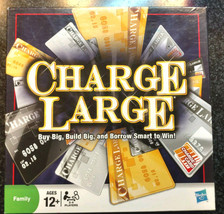 CHARGE LARGE THE CREDIT CARD BORROWING GAME! PARKER 2009 BRAND NEW SEALED - $19.99