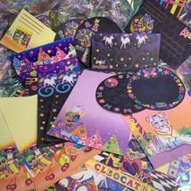 Vintage Lisa Frank Stationery Lot Cleoocatra Galactic Sundae Fruit Postalette