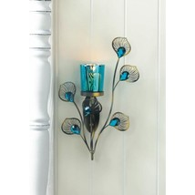 Peacock Inspired Single Sconce - $25.00