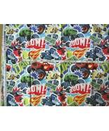 "Fabric Nick Jr Blaze Monster Cars Trucks  22"" x 42"" - $19.31"