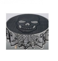 "Skull Lace Round Table Cover 70"" Round - $18.04"