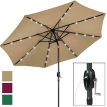 Best Choice Products 10' Solar Led Patio Umbrella W/ Usb Charger - £105.04 GBP