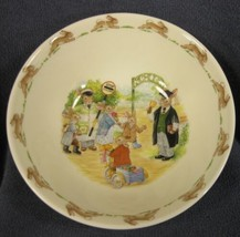 Royal Doulton Bunnykins Soup Cereal Bowl SCHOOL GATES Bone China Englan... - $24.95