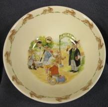 Royal Doulton Bunnykins Soup Cereal Bowl SCHOOL GATES Bone China England Vtg image 1