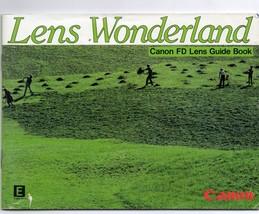 Canon Guide Book for Canon FD Lens, Lens Wonderland - $5.93