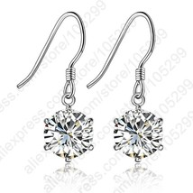 2020 Wholesale Romantic Austria Crystal Drop Earrings 925 Sterling Silve... - $7.41