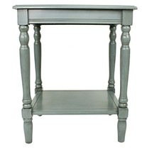 Décor Therapy Simplify End Table, Fits most Casual Décor, Blue Gray - $64.42