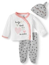 Gerber Organic Cotton Baby Girl Take Me Home Outfit Set NEW Size 0-3 Mon... - $9.45