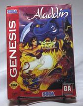 Aladdin Sega Genesis Complete CIB Disney Virgin Enterprises - $29.02