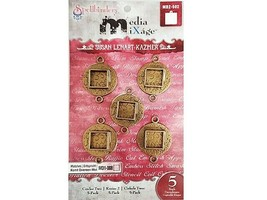 Spellbinders Media Mixage Circles Two with Square Bezels, 5 Pack #MB2-502